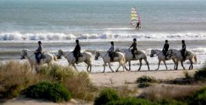 Balade à cheval sur la plage (2)